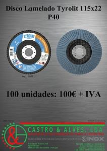 DISCO LAMELADO TYROLIT P40